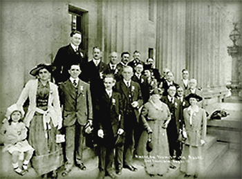 PCNS hosting the ANA at the SF Mint in 1915