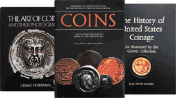 Numismatic books, cover images